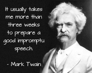 mark twain public speaking