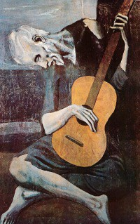 old guitarist picasso art gift