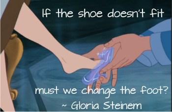 strength to leave Gloria Steinem